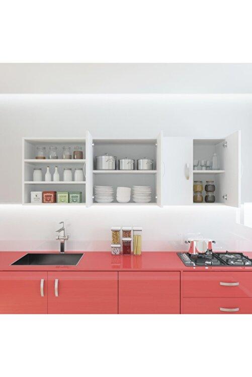 Kenzlife Hazır Mutfak Valona Byz 060*180*32 Mutfak Banyo Dolabı Kapaklı Raflı 2