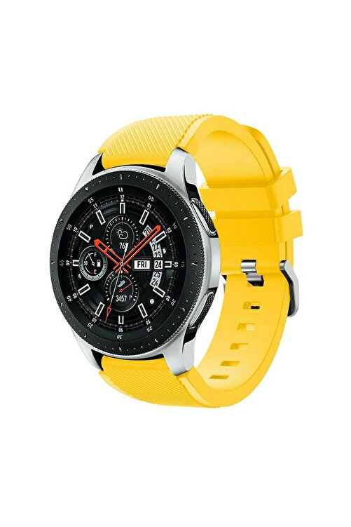 TahTicMer Huawei Watch Gt2 46mm Sport Kordon Silikon Sarı 1