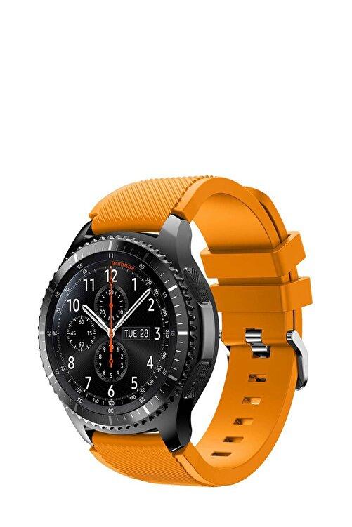TahTicMer Huawei Watch Gt2 46mm Sport Kordon Silikon Turuncu 1