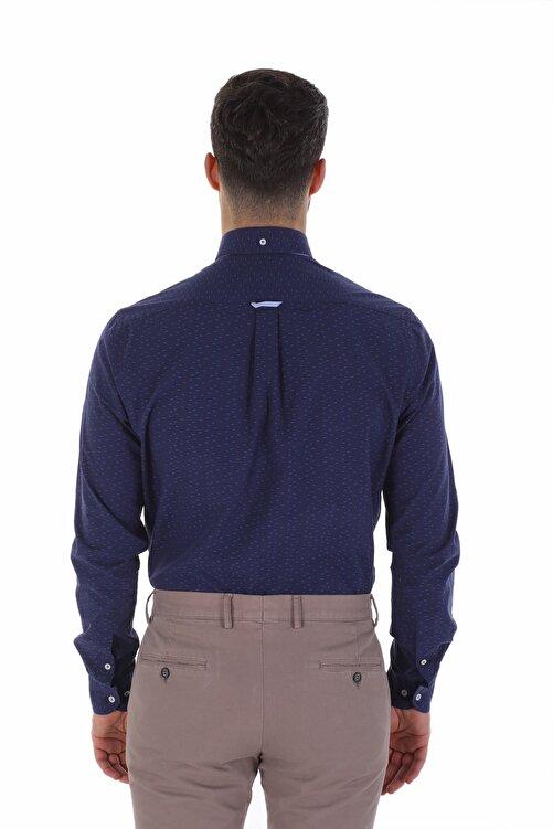 Diandor Erkek Gömlek Laci-Mavi/Navy-Blue 1822016 2
