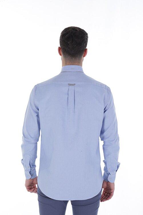 Diandor Uzun Kollu Rahat Kalıp Erkek Gömlek Mavi/Blue 1822001 2