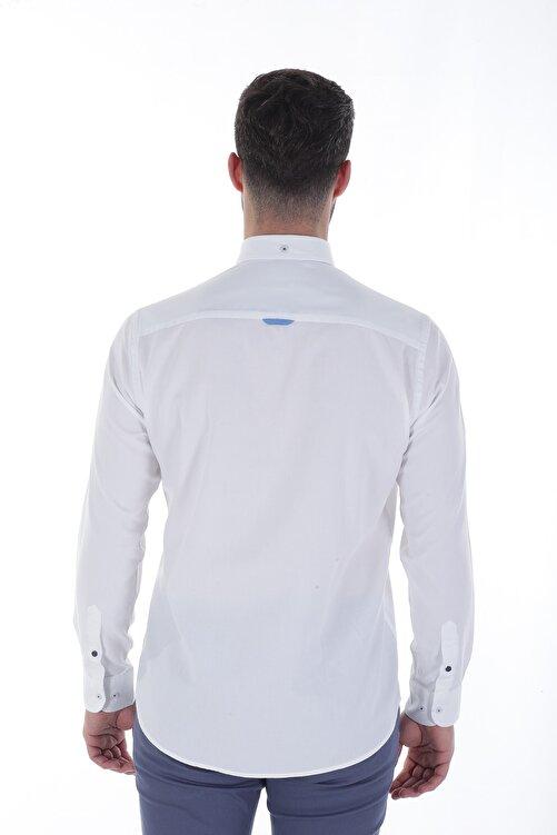 Diandor Uzun Kollu Erkek Gömlek Beyaz/White 1912007 2