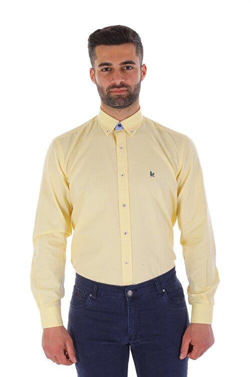 Diandor Uzun Kollu Erkek Gömlek Sarı/Yellow 1912007 1