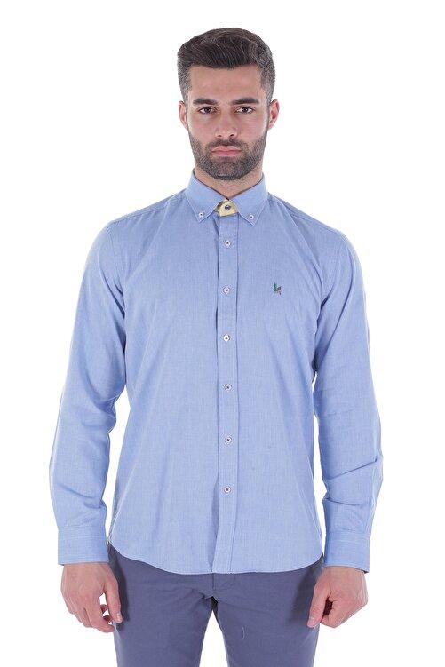 Diandor Uzun Kollu Erkek Gömlek Lacivert/Navy 1912007 1