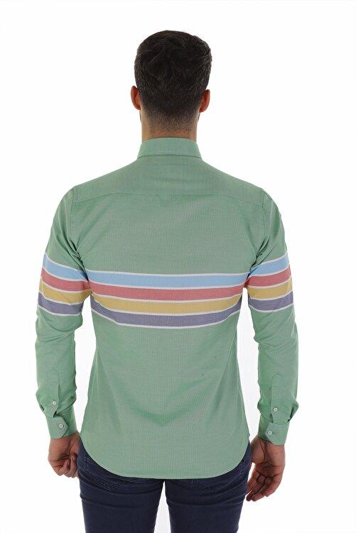 Diandor Uzun Kollu Slim Fit Erkek Gömlek V1 1912031 2