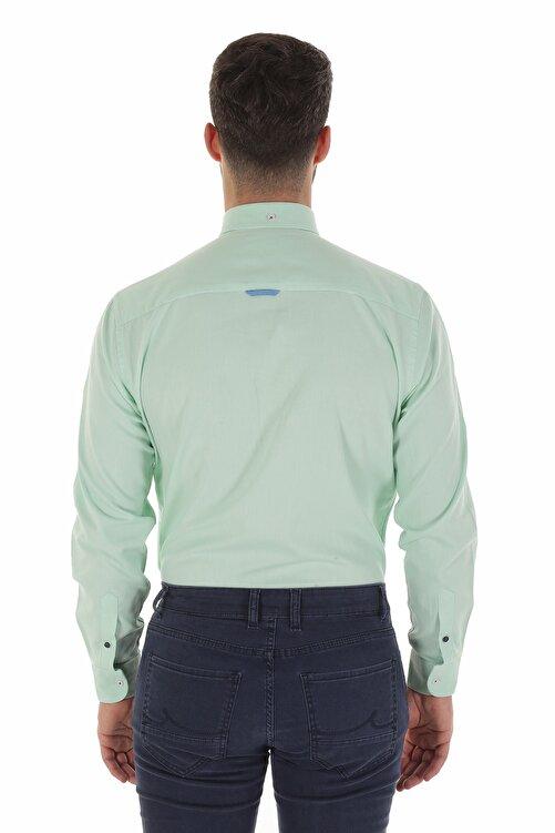 Diandor Uzun Kollu Erkek Gömlek Mint/Aqua 1912007 2