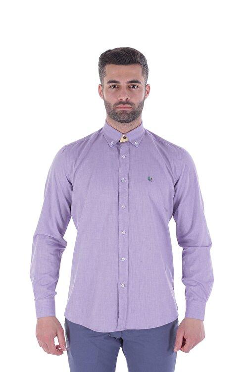 Diandor Uzun Kollu Erkek Gömlek Mor/Purple 1912007 1