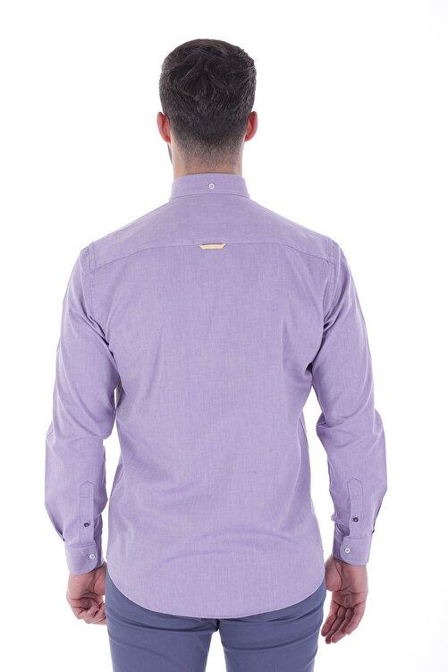 Diandor Uzun Kollu Erkek Gömlek Mor/Purple 1912007 2
