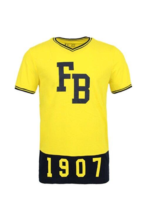 Fenerbahçe Erkek Sarı Kolej 1907  Spor T-Shirt 1