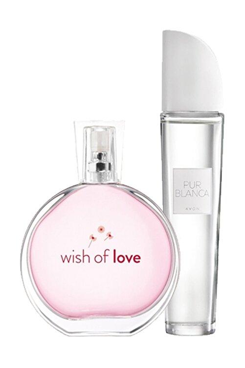 AVON Wish of Love + Pur Blanca Kadın Parfüm Seti 8681298983385 1