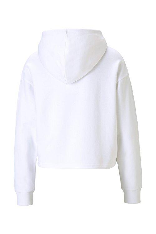 Puma Kadın Essential Metalik Logo Sweatshirt-beyaz 2