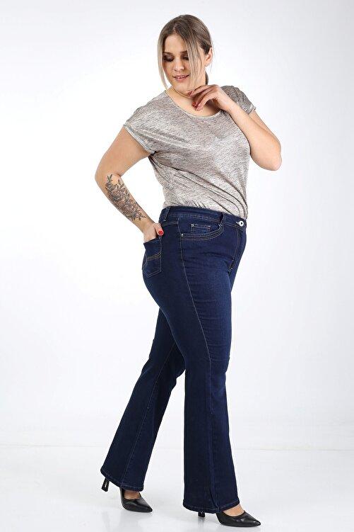 Era Lisa Ispanyol Paça Likralı Büyük Beden Jeans Pantolon 1