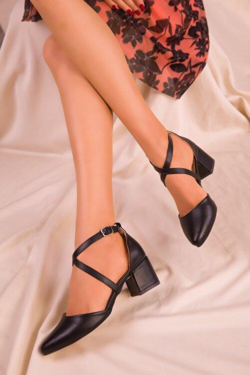 SOHO Siyah Mat Kadın Klasik Topuklu Ayakkabı 14392 2