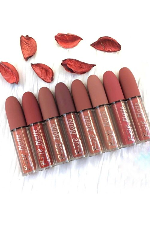 Roesıa Rose Cosmetics Nude Kurşun 8 Li Mat Ve Kalıcı Lip Gloss 1