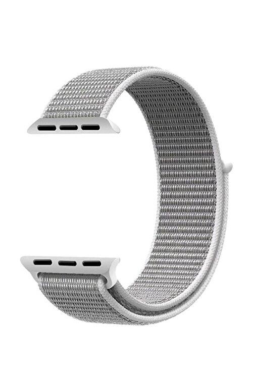 Robotekno Gri Apple Watch Dokuma Kordon Kayış - 38mm 40mm 1