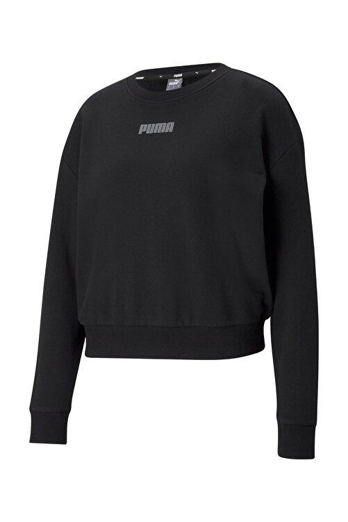 Puma MODERN BASICS CREW TR Siyah Kadın Sweatshirt 101085566 1