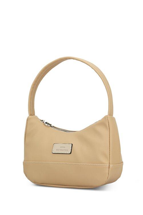 Housebags Kadın Krem Baguette Çanta 2