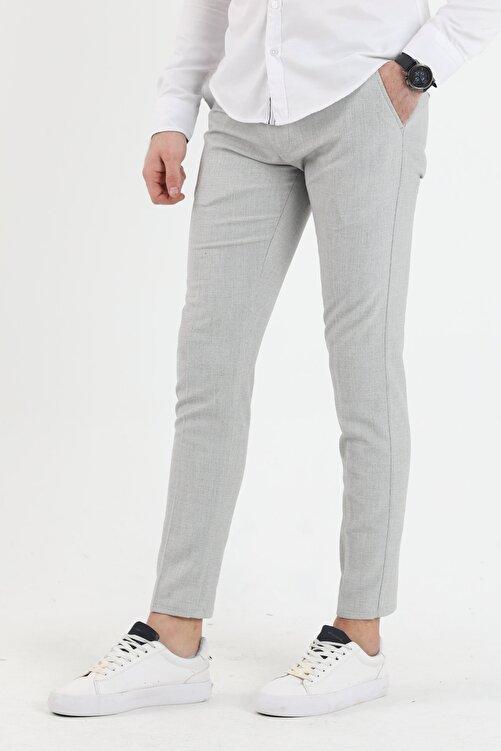 DENSMOOD Düz Renk Keten Pantolon 1