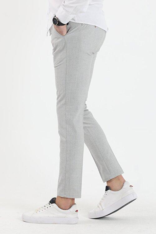 DENSMOOD Düz Renk Keten Pantolon 2