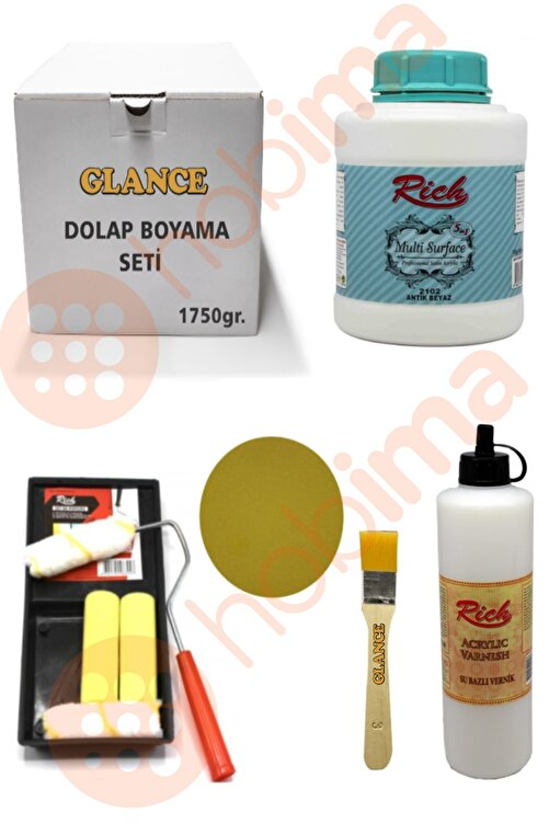Rich Glance Dolap Boyama Multi Surface 1750 gr Antik Beyaz Set 1