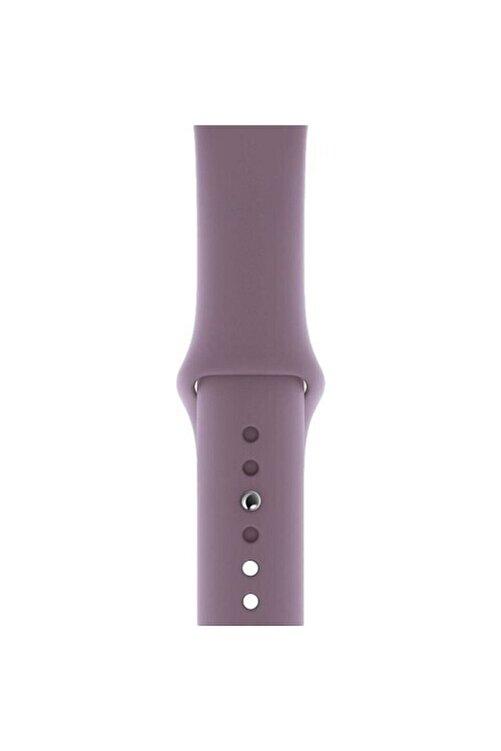 Telehome Apple Watch 38 - 40 Mm Spor Kordon Silikon Kayış Lila 2