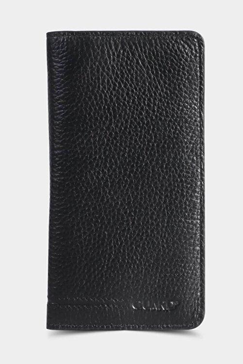 GUARD Telefon Kılıflı Deri Unisex Cüzdan Kartlık Siyah 2