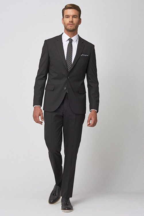 ALTINYILDIZ CLASSICS Erkek Siyah Regular Fit Siyah Takım Elbise 1