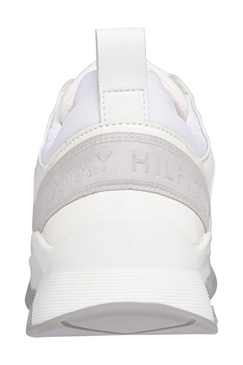 Tommy Hilfiger Kadın Beyaz Sneaker Sporty Chunky Deri Sneaker FW0FW05287 2