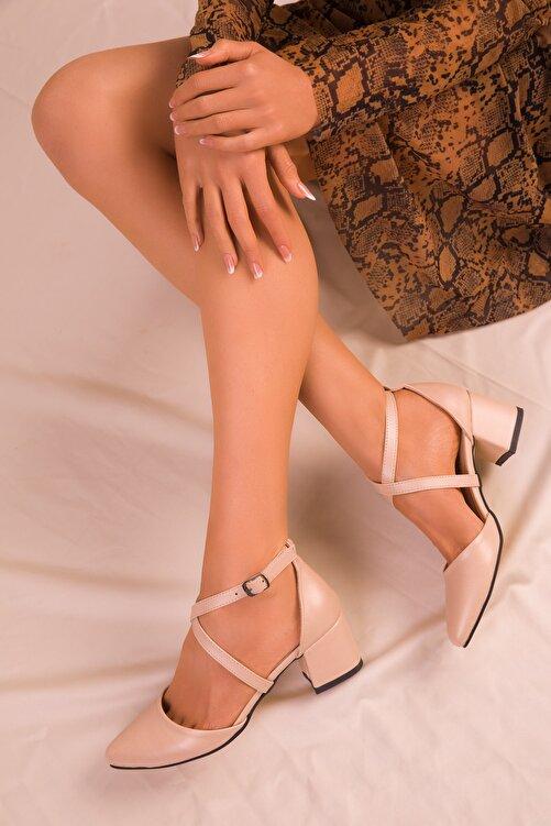 SOHO Ten Mat Kadın Klasik Topuklu Ayakkabı 14392 1
