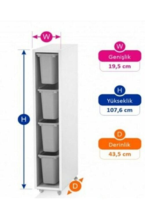 Vip Home Ahşap Plastik Çekmeceli Şifonyer Çok Amaçlı Düzenleyici Dolap Vps-07 2