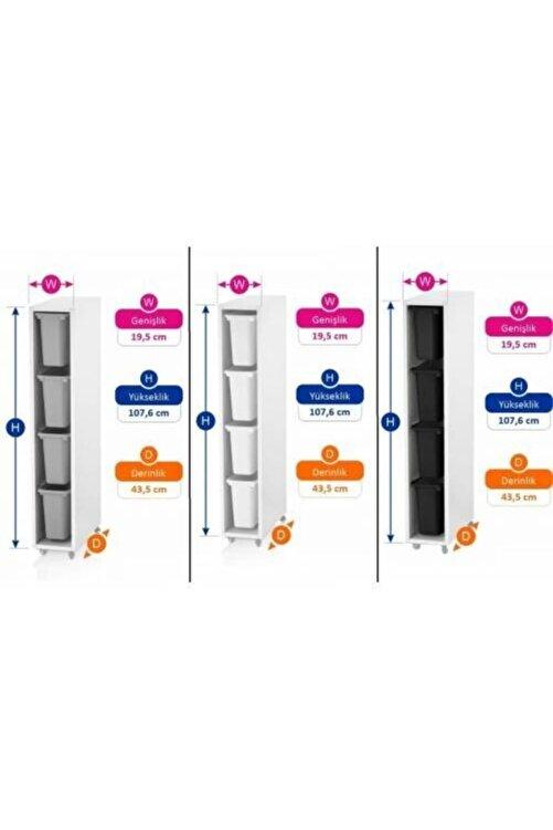Vip Home Ahşap Plastik Çekmeceli Şifonyer Çok Amaçlı Düzenleyici Dolap Vps-07 1