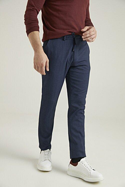 D'S Damat Slim Fit Lacivert Sihirli Kumaş Pantolon 2