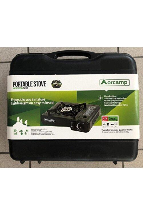 Orcamp Ck501-1 Tek Gözlü Portatif Ocak Plastik Çantalı Siyah + Kartuş Altılı Kts-227 2