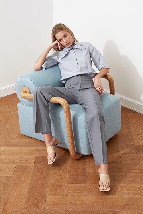 TRENDYOLMİLLA Mint Yüksek Bel Nervür Dikişli Pantolon TWOSS21PL0093 1