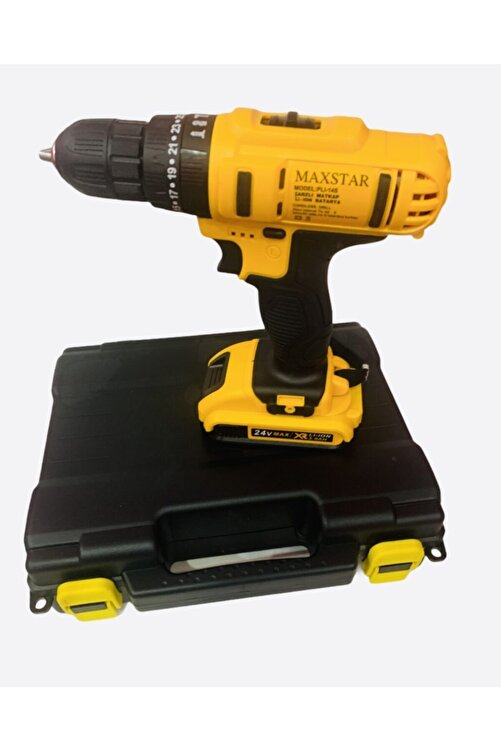 morponi Maxstar Tools 24 V 5ah Liion Çift Akülü Çantalı Darbeli Şarjlı Matkap 5 Uç Hediyeli 2