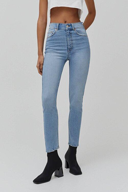 Pull & Bear Kadın Süper Yüksek Bel Slim Fit Mom Jean 2