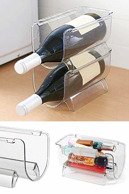 Helen's Home Buzdolabı Düzenleyici Şişe Rafı İç İçe Geçmeli Kozmetik Rafı 2