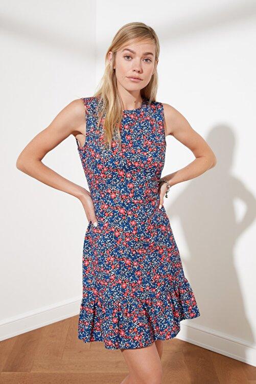 TRENDYOLMİLLA Siyah Çiçek Desenli Elbise TWOSS20EL1234 2