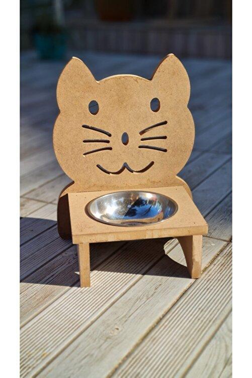 Rich Ahşap Kedi Mama Kabı Boyama Seti ( Akrilik Boyalar, Vernik Ve Fırçalar ) 2