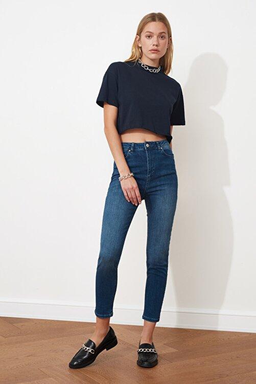 TRENDYOLMİLLA Indigo Yüksek Bel Skinny Jeans TWOSS20JE0098 1