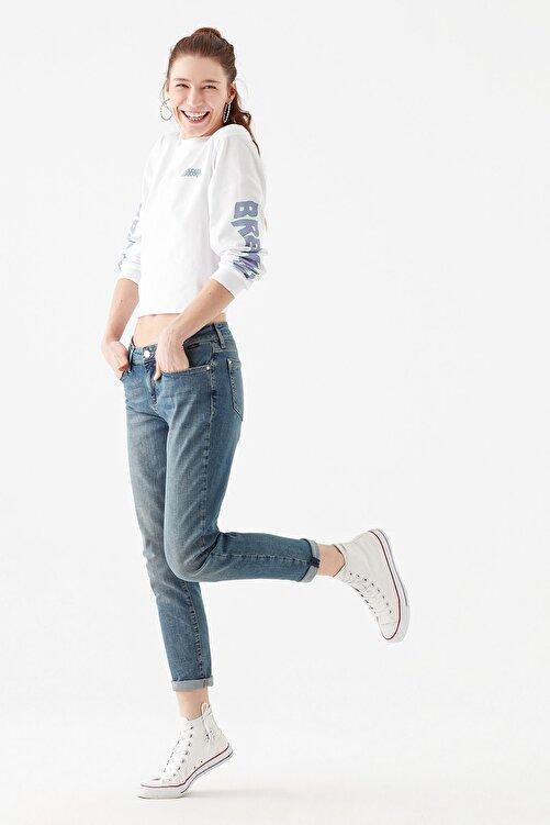 Mavi Kadın Ada Gölgeli  Vintage Jean Pantolon 1020533423 2