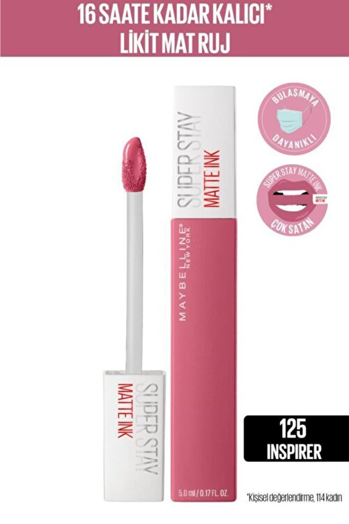 Maybelline New York Super Stay Matte Ink City Edition Likit Mat Ruj - 125 Inspirer 1