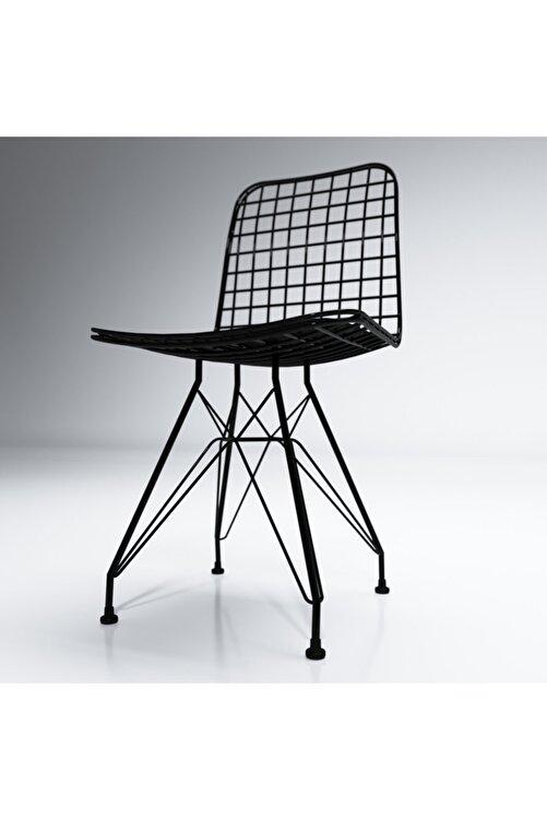 Kenzlife Kafes Tel Sandalyesi 1'li Mazlum Syhsyh Ofis Cafe Bahçe Mutfak 2