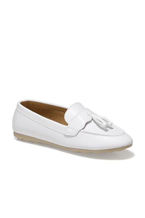 Miss F DS21007 1FX Beyaz Kadın Loafer Ayakkabı 101017821 1
