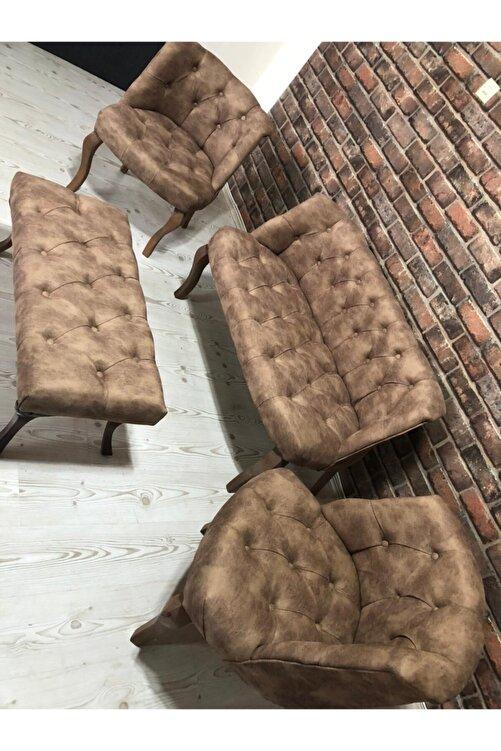 Emba mobilya Kahverengi Çay Seti Koltuk Takımı 1