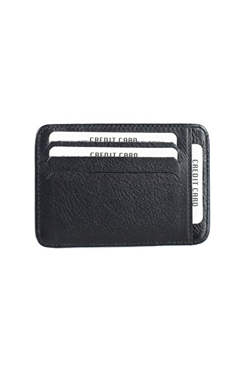 Leyl Hakiki Deri Kartlık Kağıt Para Bölmeli Kredi Kartı Cüzdanı 2