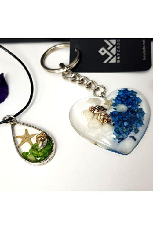 PR Sevgililer Gününe Özel Damla Deniz Yıldızlı Yaşayan Kolye Kalpli Anahtarlık Hediye Kutusu 1