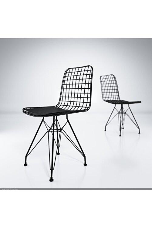Kenzlife Kafes Tel Sandalyesi 1'li Mazlum Syhsyh Ofis Cafe Bahçe Mutfak 1