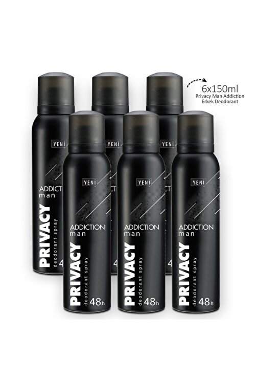 Privacy Man Addiction Erkek Deodorant 6x150ml 2