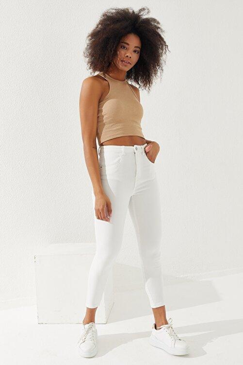 Reyon Kadın Kalın Askılı Crop Bluz 2